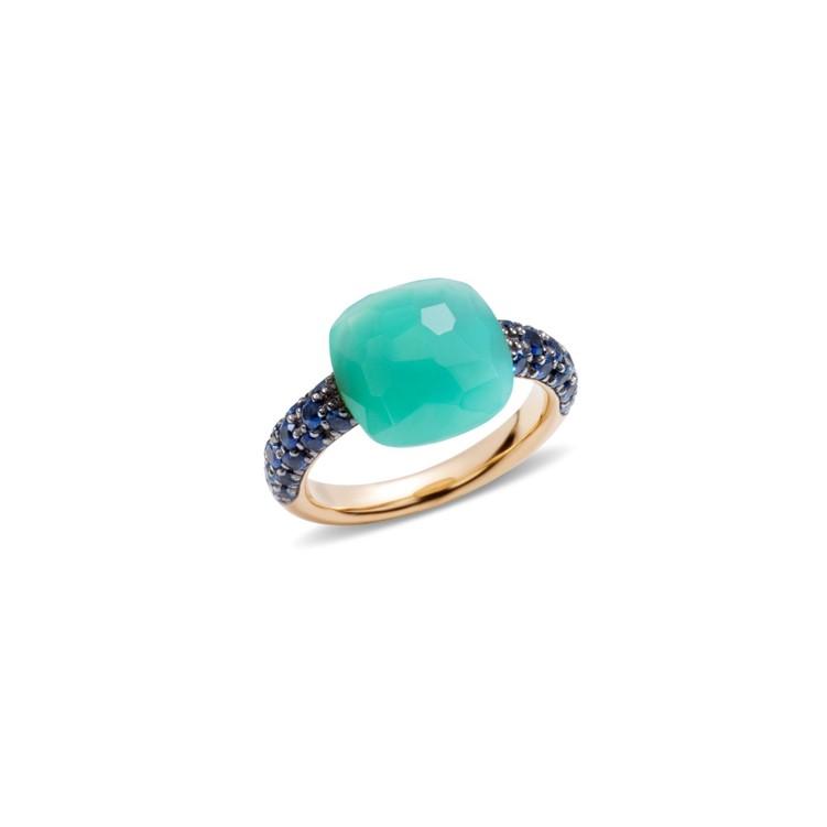 Pomellato-Capri-Rose-Gold-Chrysoprase-Sapphires