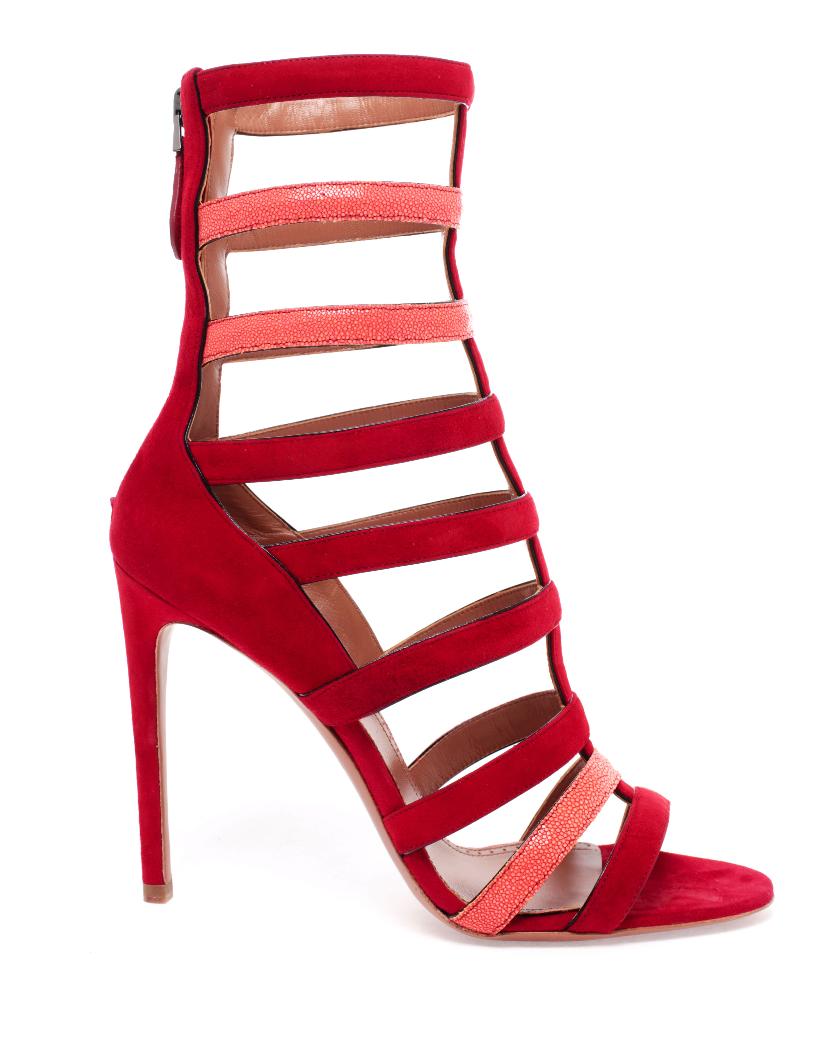 Alaia Red Shoes Alaia Red Strappy