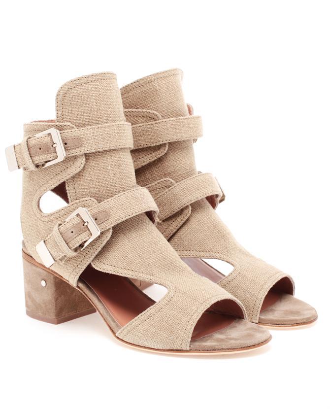 Laurence-Decade-Douce-Buckled-Linen-Heels