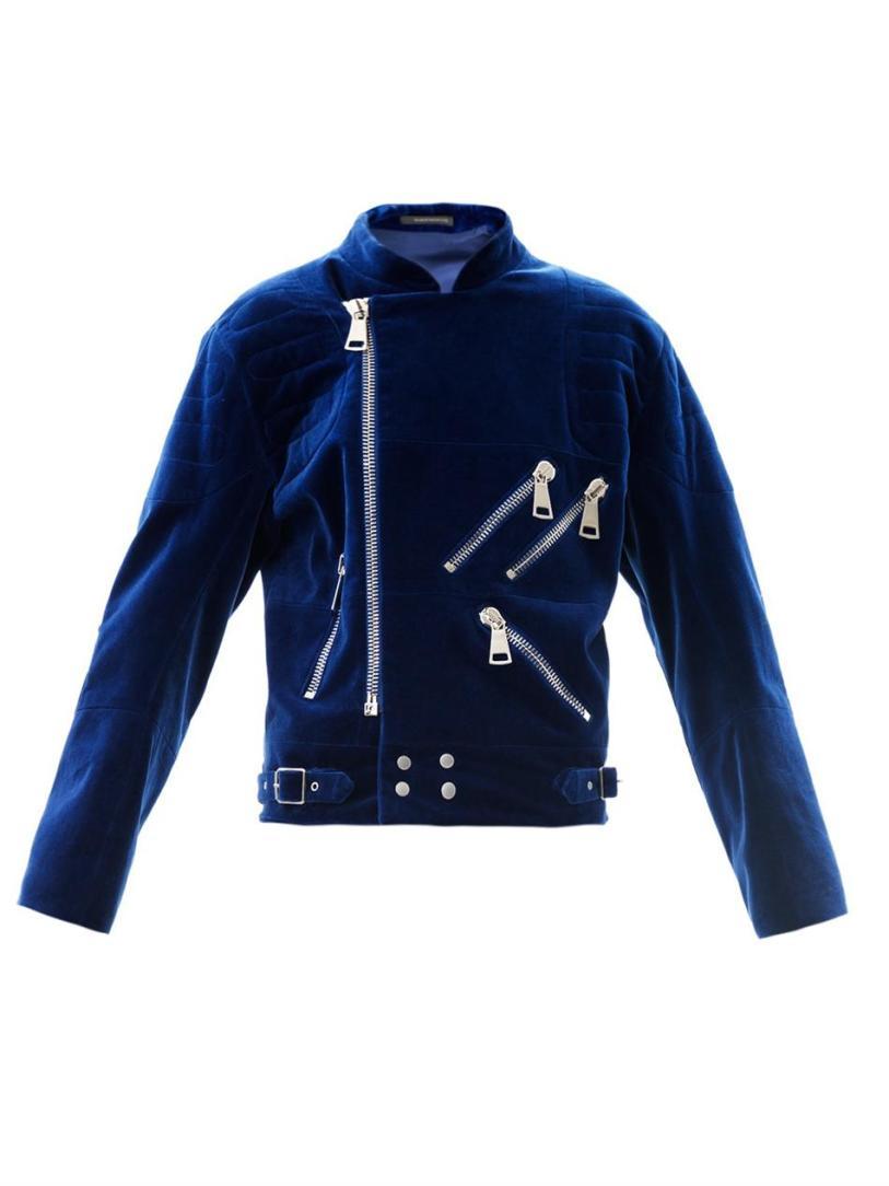 Christopher-Kane-Blue-Velvet-Biker-Jacket