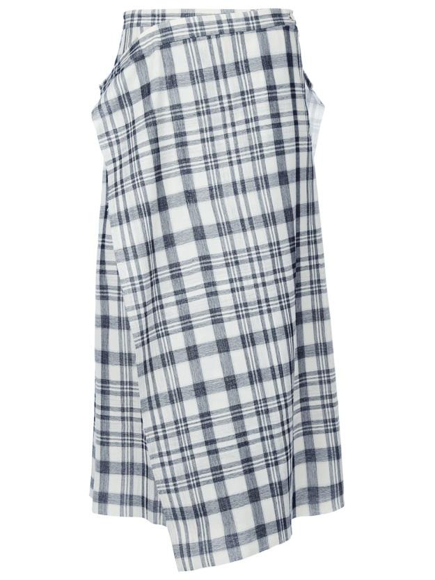 Comme-des-Garcons-Check-Wrap-Skirt