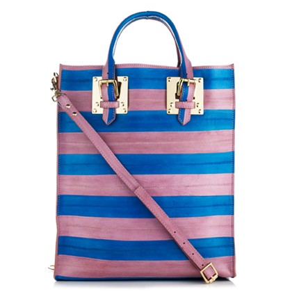 SOPHIE HULME blue and mauve tote
