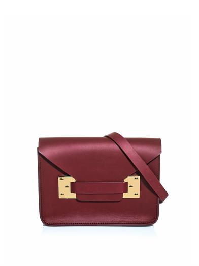SOPHIE HULME Bordeaux mini envelope clutch