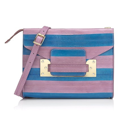 SOPHIE HULMEblue and mauve mini envelope clutch
