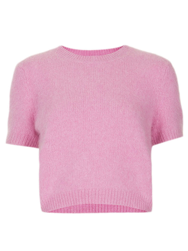 Topshop-Pink-Knit-Top