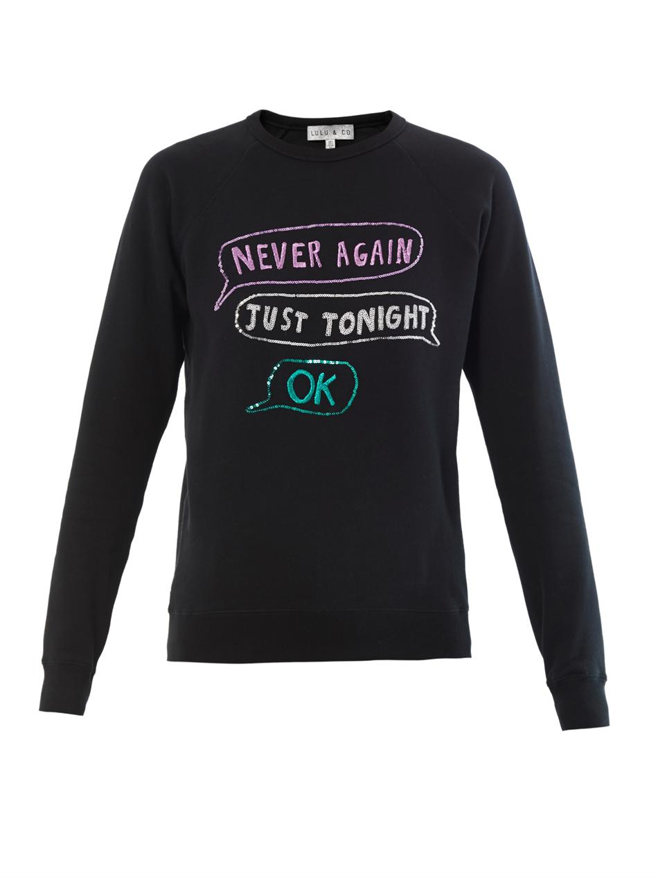 Lulu & Co Sequin & embroidered sweatshirt