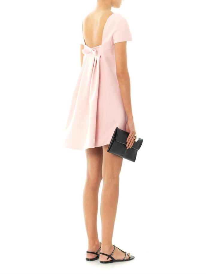Valentino Bow-back wool-silk dress_2