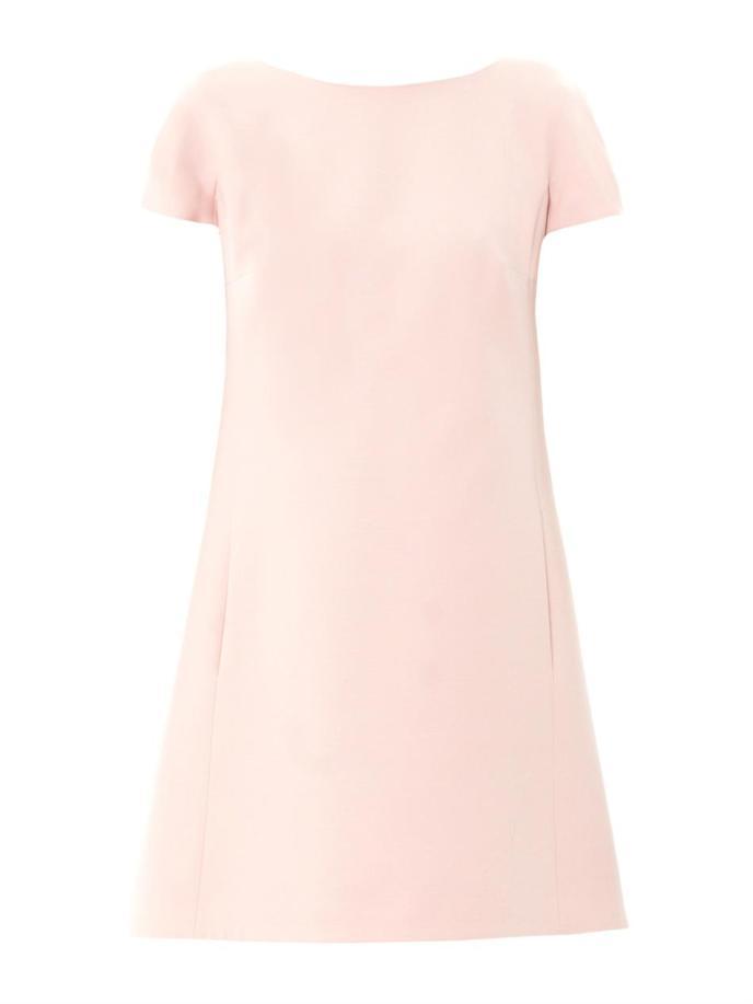 Valentino Bow-back wool-silk dress_3