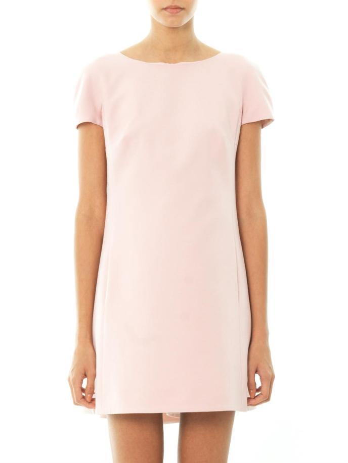 Valentino Bow-back wool-silk dress_4