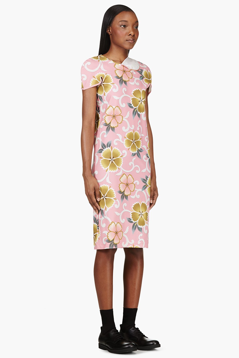 Comme-des-Garcons-Pink-Floral-Stretch-Dress_2