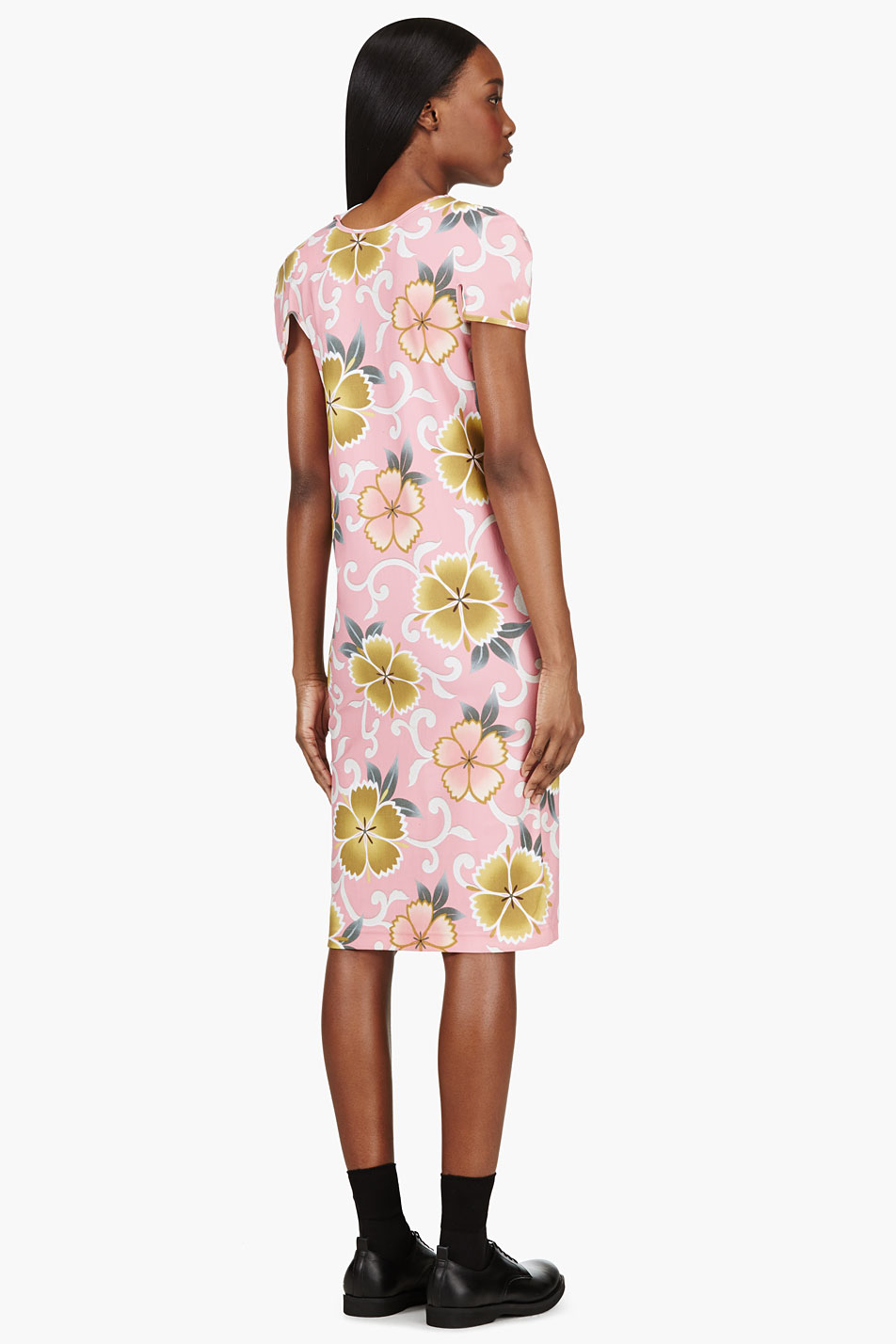 Comme-des-Garcons-Pink-Floral-Stretch-Dress_3