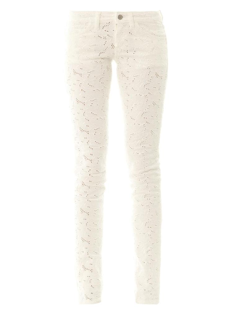 ISABEL MARANT ÉTOILE Mael embroidered mid-rise skinny jeans