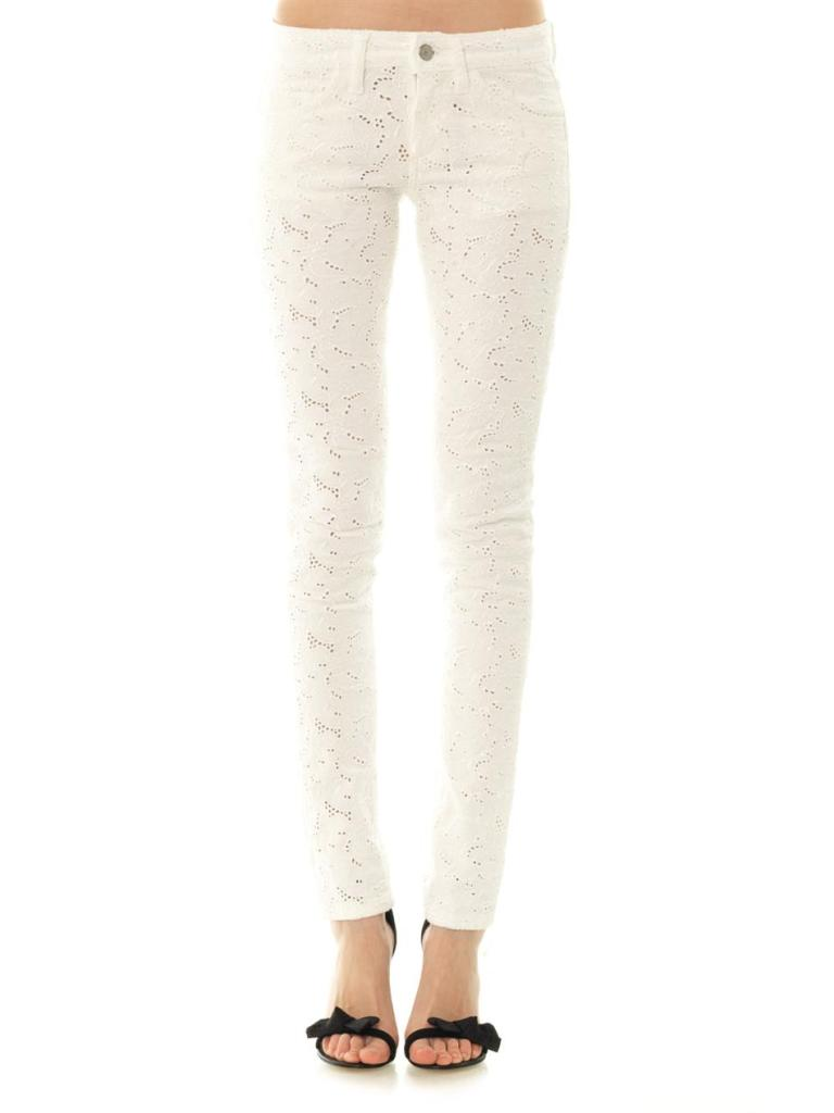 ISABEL MARANT ÉTOILE Mael embroidered mid-rise skinny jeans_2